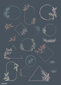 premium vector of Botanical frame element vector collection 846060 Botanical frame element vector collection Logo Floral, Bullet Journal Art, Bullet Journal Inspiration, Wreath Drawing, Doodles, Chalkboard Art, Chalkboard Drawings, Chalkboard Designs, Doodle Art