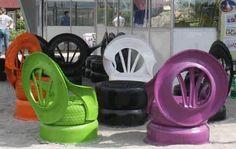 Car tyre seating