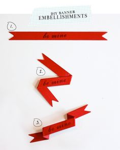 DIY Banner Embellishment  - good for sports pages http://www.damasklove.com/category/tutorials/page/2/#