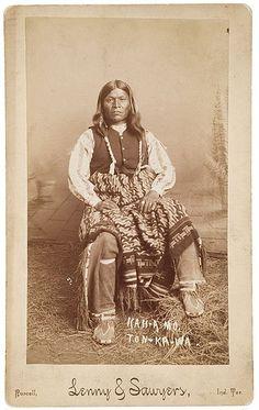 Kah-A-Mo - Tonkawa - Ca 1890