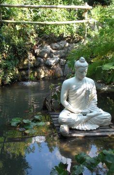 Buddha in the garden.