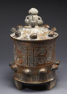 Lidded Vessel, Maya, ca. 250 AD, The America's.