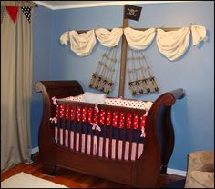 unique baby nursery decor | Pirate themed nursery for Parker - lots more pictures here