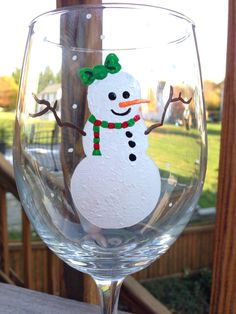 Christmas wine glasses for only $7!! so cute!