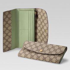 Gucci 256926 Fci1g 8371 Continental Geldb?rse mit Verriegelung G Anzeigen Gucci Damen Portemonnaie