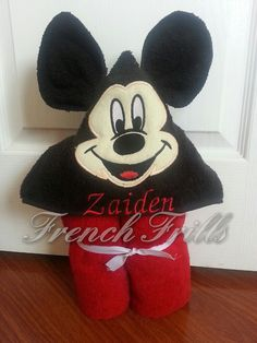 3D mouse hooded towel Applique Design by FrenchFrills on Etsy