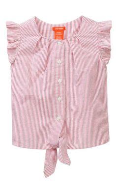 seersucker tie waste shirt for toddlers this summer #summer #affiliate