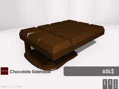Ready for choclate? This chocolate sidetable is available at the Candy Fair from 22769 ~ [bauwerk]