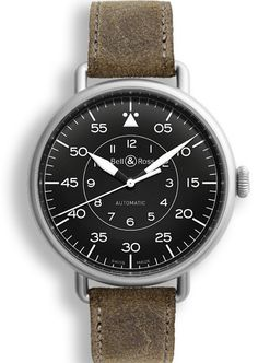 The Vintage WW1 (Wrist Watch 1) pays tribute to the first wristwatches worn by pilots in the 1920s. It features a distinctive large fob watch type diameter, wire lugs welded to the sides of the watch and a thin elegant yet strong leather strap. With its matte grey steel case and distressed strap, the WW1 Military is the authentic military version of the WW1. Its reading is inspired by the so-called navigation or observation military aviator watches: the graduation emphasizes the minutes on…