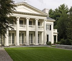 Greek Revival mansion by Dell Mitchell Architects. Needs bigger vintage century oaks with moss and magnolias.