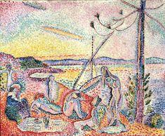 Henri Matisse (French, 1869–1954)  Luxe, calme, et volupté, 1904  Oil on canvas; 38 3/4 x 46 5/8 in. (98.5 x 118.5 cm)