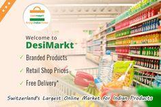 Order online and avail good discount at Desimarkt  www.desimarkt.ch Indian Grocery Store, Shop Price, Retail Shop, Online Marketing, Switzerland, Personal Care, Shopping, Personal Hygiene, Internet Marketing