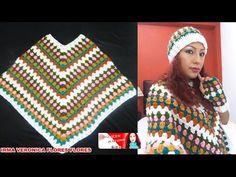 Poncho a crochet muy fácil #DIY #tutorial - YouTube