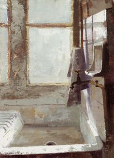 Nigel Fletcher: Painting adventures in the Limousin: The Kitchen Sink  5.5 X 7.5 inches OIL