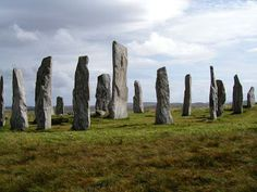 The standing stones at Craig na dun Scotland where Claire Randall disappeared in Outlander.