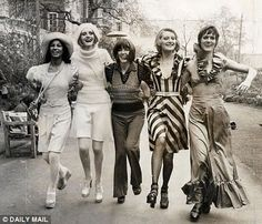 From a Mary Quant autumn fashion show in the 60's! via: Fashion Source Book