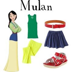 Mulan Gown Inspired Casual Girl Outfit - black flats instead of sandals