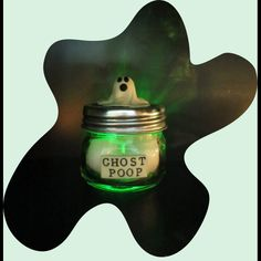 Ghost Poop!  Made with Makin's Clay® no bake air dry polymer clay - glow in the dark clay - by Pat Krauchune - http://www.makinsclayblog.blogspot.com/2015/09/ghost-poop-by-patricia-krauchune.html