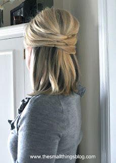 half up hair hair Medium Hair Styles, Short Hair Styles, Casual Updos For Medium Hair, Casual Curls, Medium Curly, Short Wavy, Long Layered, Hair Medium, Short Blonde