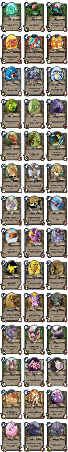 The first 42 Pokemon as Hearthstone cards. Enjoy!