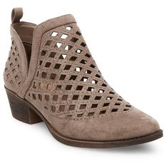 Perforated ankle boots, designer dupe for under $40
