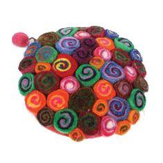 £19.00 Marbled felt bobbles circular purse, handmade in Nepal.  #Fairtrade #Nepal #Felt #Purse #Accessories