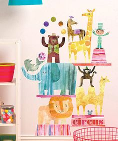 Look what I found on #zulily! Circus Time Wall Decal Set #zulilyfinds
