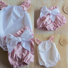 Blush Pink Broderie Anglaise Ruffle Bloomers and Seaside Romper
