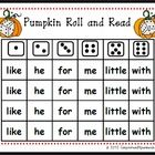 Your students will love playing Pumpkin Roll and Read. This file contains 6 color coded game boards to practice reading sight words. All students n...