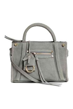 Semišová kabelka na plece - sivá | H&M SK
