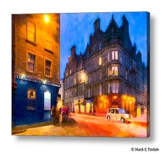 At The World's End in Edinburgh by Mark Tisdale - night time streets of the famous Royal Mile in beautiful Edinburgh Scotland.