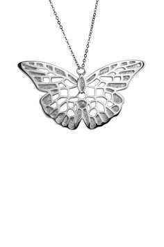 ELLE Jewelry Sterling Silver Butterfly Necklace
