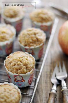 Muffins de manzana y canela con streusel
