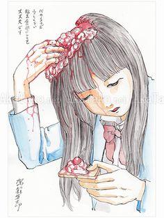 Shintaro Kago Funny Girl 40 original painting