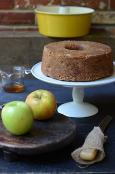 Food Wanderings: Apple Bourbon Bundt Cake: subbed plain Greek yogurt for sour cream, subbed Chinese Five Spice Powder for cinnamon & added roasted chopped walnuts