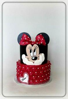 Birthday Food Girl Minnie Mouse New Ideas Birthday Food Girl Minnie Mouse New Ideas Bolo Da Minnie Mouse, Mickey And Minnie Cake, Minnie Mouse Birthday Cakes, Mickey Cakes, Baby Birthday Cakes, Mickey Birthday, Disney Mickey, Disney Cars, Birthday Ideas