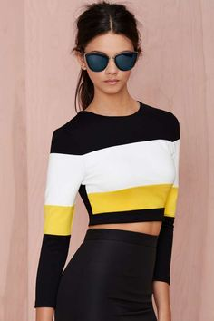 Touchdown Crop Sweater - Cropped | those sunglasses though!