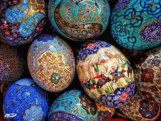 #مینیاتور#تخم مرغ رنگی#نوروز باستانی#نوروز#هنر#iranian art#norooz#