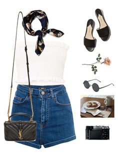 """""""The scene."""" by greciapaola ❤ liked on Polyvore featuring Pull&Bear, Prada, Yves Saint Laurent and Retrò"""