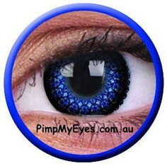 Eyelush Blue Colour Contact Lenses Pair - PimpMyEyes.com.au | PimpMyEyes