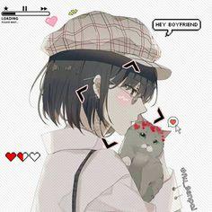 Sad Anime, Anime Neko, Kawaii Anime Girl, Anime Art Girl, Manga Anime, Anime Couples Drawings, Anime Couples Manga, Cute Anime Couples, Cute Couple Cartoon