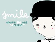 smile A4  digital print  illustration wall art by PinkrainShop #etsyitaliateam