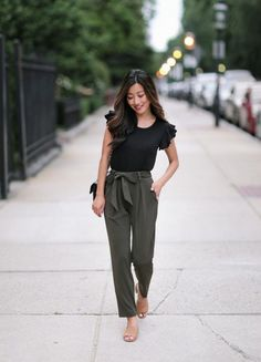 utilitarian chic outfit for teachers #dresses#style#borntowear