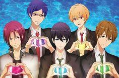 Free! - Iwatobi Swim Club, haruka nanase, makoto tachibana, rin matsuoka, nagisa hazuki, rei ryugazaki.