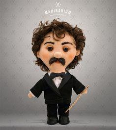 Selfie doll Imre custom doll caracter doll rag doll by Mahinarium
