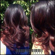 Cherry Ombre Hair Color For Brunettes
