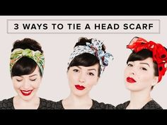 """7 Super Easy Ways To Get The Perfect Messy Bun Topknot, messy bun, """"I ain't got time for this today"""" bun – whatever you want to call it, one thing is for sure: we just can't get enough of these hot-mess buns. Here are 7 of our favorites. Greasy Hair Hairstyles, Bandana Hairstyles, Retro Hairstyles, Wedding Hairstyles, Vintage Hairstyles Tutorial, Lazy Hairstyles, Hairstyle Tutorials, Head Scarf Tutorial, Turban Tutorial"""