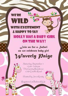 GIRL Jungle Safari Zoo Animals PINK Baby by ElsaCarolineDesigns, $10.00