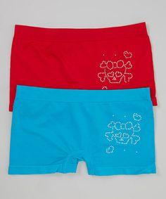 Loving this Blue & Red Skull & Crossbones Underwear Set on #zulily! #zulilyfinds