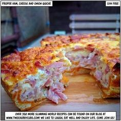 Slimming World proper ham, cheese and onion quiche